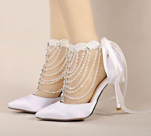 2017 nuevo satén bombea los zapatos para mujer zapatos de boda blanco de verano recortes verano TG829 riband zapatos de novia de cristal