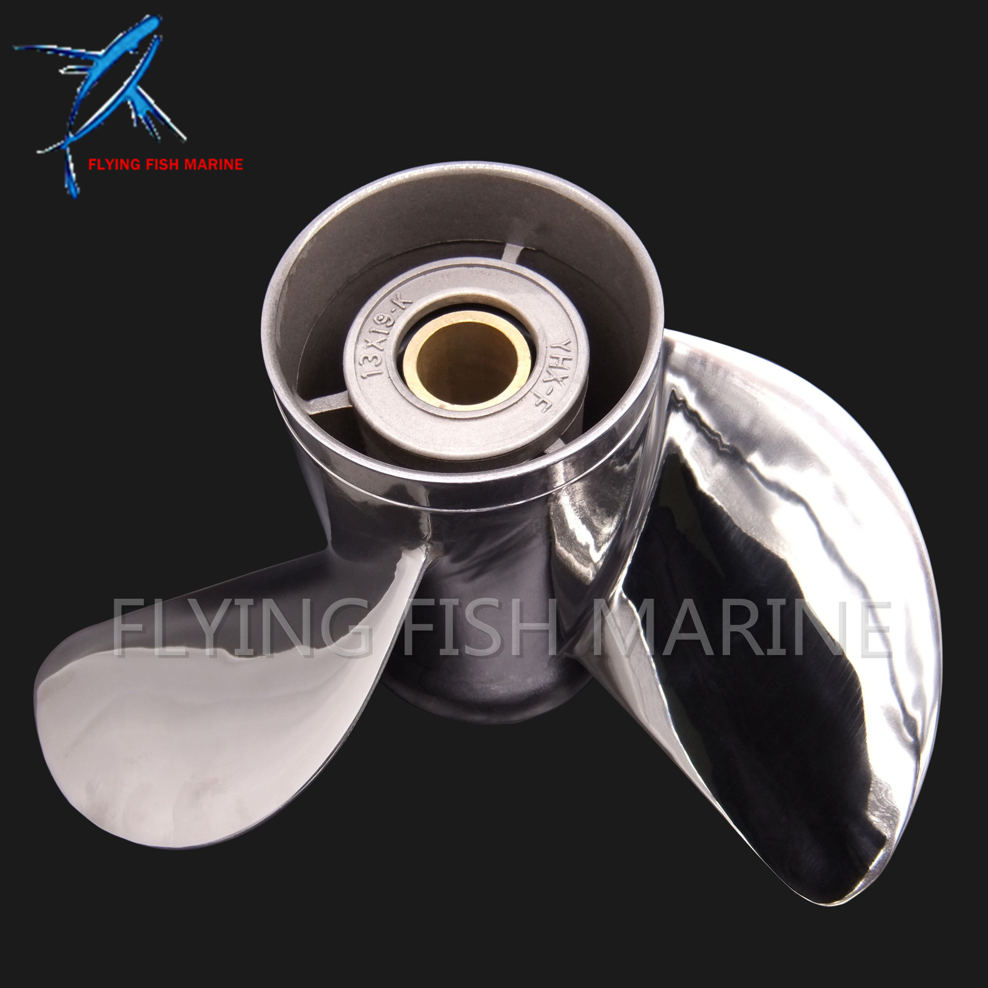 Outboard 688-45970-03-98 Boat Motor Stainless Steel Propeller 13x19-K for Yamaha 60HP 70HP 75HP 80HP 85HP 90HP 115HP 130HP