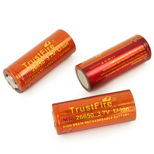 8pcs/lot TrustFire High Drain IMR 26650 3.7V 3400mAh Rechargeable Lithium Battery For E-cigarette Discharge Current 60A