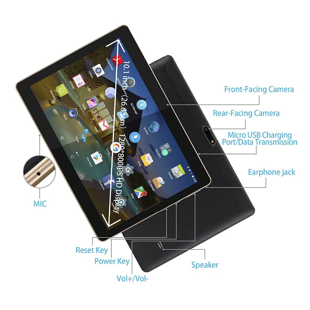 LNMBBS tablet 10.1 Android 7.0 tablets 4G LTE phone call wifi keyboards 8 core IPS 5.0 MP 2GB 16GB store otg free shipping gift