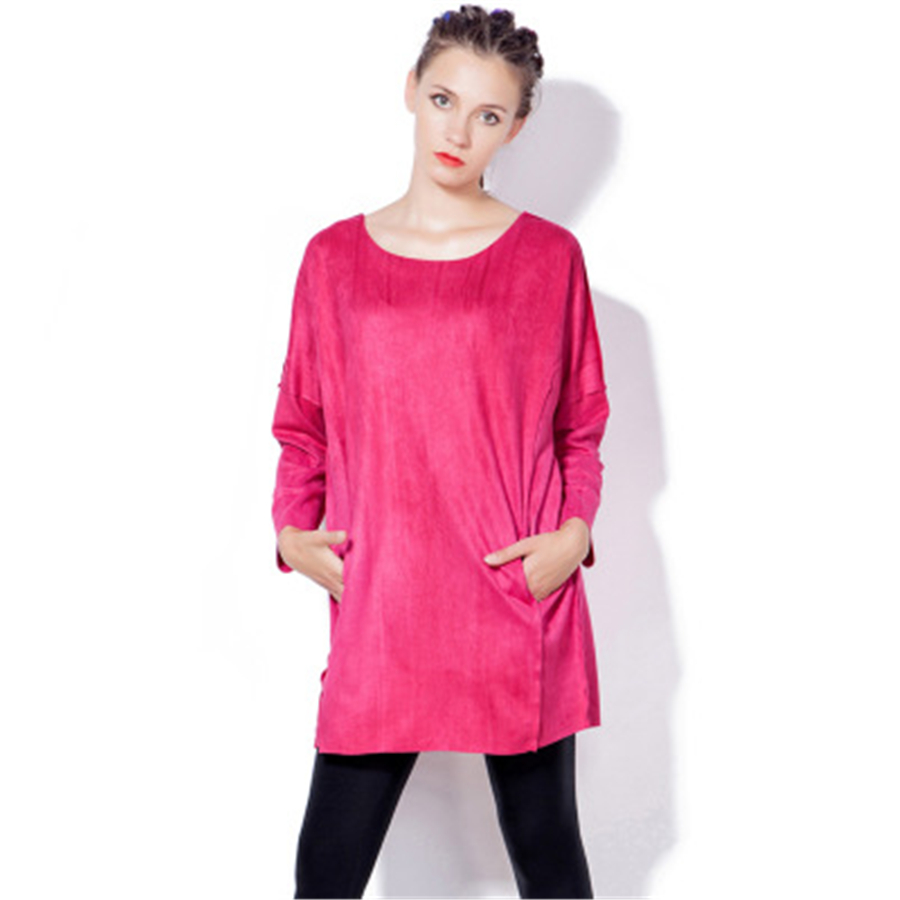 Online get cheap long sleeve pink maternity dress aliexpress maternity dresses clothes for pregnant women dress plus size pink soft winter knee length pregnant ombrellifo Gallery