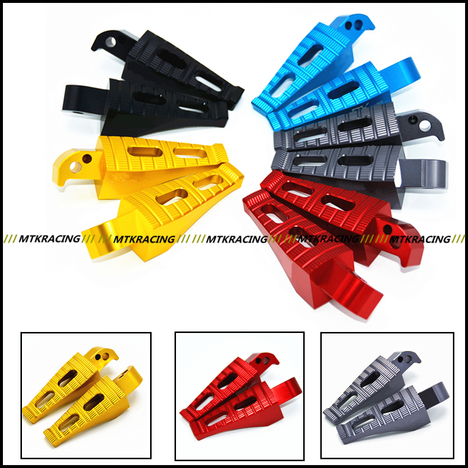 Motorcycle CNC Rear Foot Pegs Rests Passenger Footrests For Yamaha TMAX-530 tmax 530 MT-07 mt07 red black motorcycle cnc aluminum rear foot peg footrest rear passenger footrest for yamaha tmax 500 t max530 mt07 mt09