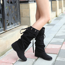 2014 autumn and winter fashion women's knee-high boots warm boots flat shoes sexy high boots women's boots XY086