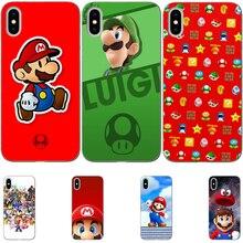 Super mario bros Flexible slim for Funda iPhone X Case 11 11PRO MAX 6 6S 7 Plus X XS Max XR Soft TPU  for Capa iPhone 8 Case