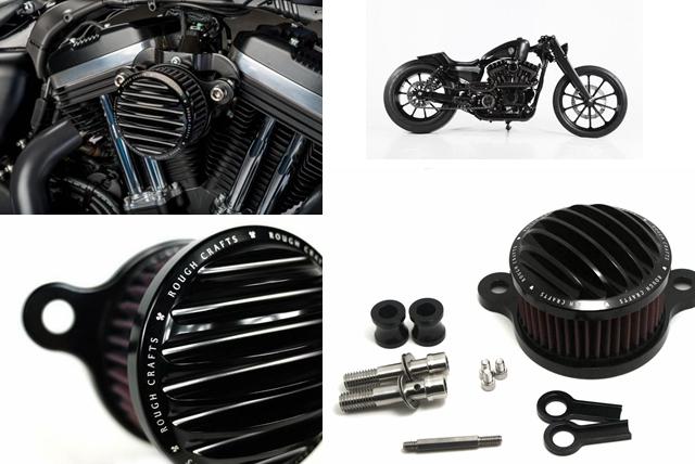 Prix pour Rugueux Artisanat Air Intake Cleaner Filtre système Pour Harley Sportster XL 883 1200 2004 2005 2006 2007 2008 2009 2010 2011 2012-2014