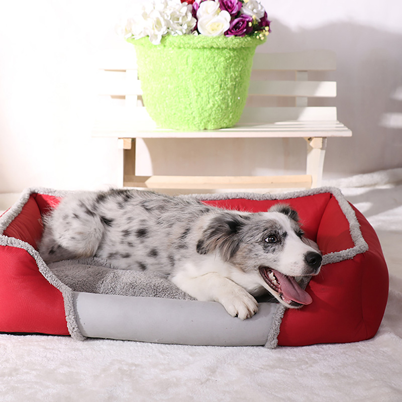 Pet Dog Bed For Large Dogs Washable Puppy Pet Cat Beds Mats Waterproof Dog House Kennel Autumn