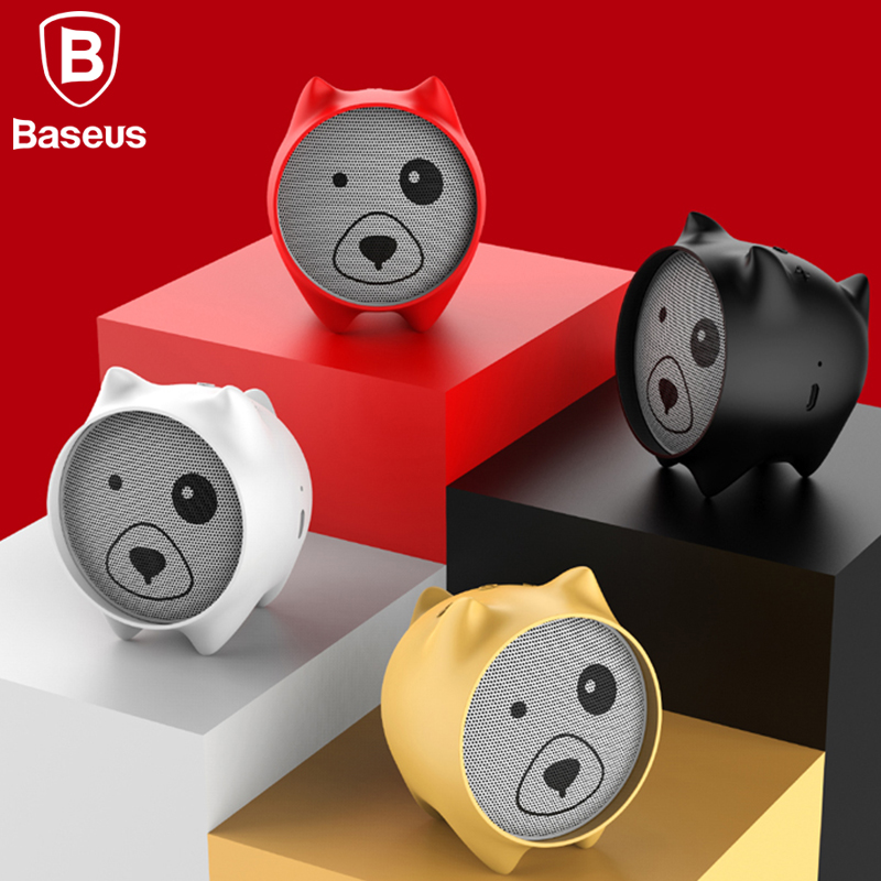 Baseus E06 Dogz Bluetooth Speaker Portable Mini Bluetooth Speaker Gift Speakers MP3 Music Player Stereo Sound Wireless Speaker original xiaomi mi bluetooth speaker stereo portable wireless mini mp3 player music speakers hands free calls