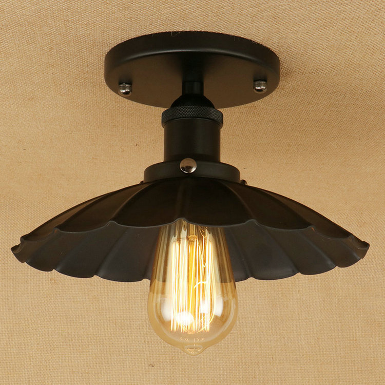 IWHD Vintage Retro Ceiling Lamp Led Style Loft Iron