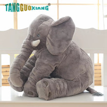 1pcs 40cm Baby Elephant Plush Cute Gray Toy With Long Nose Pillows PP Cotton Stuffed Soft Elephants Toys