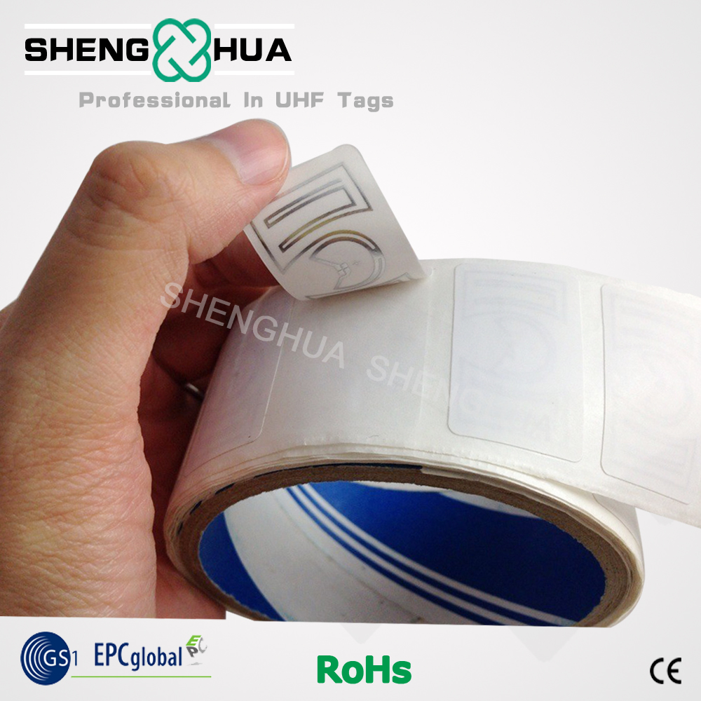 2000pcs/roll Factory Price Low Price UHF RFID Blank Sticker For Outlets/ Supermarkets/ Warehouse