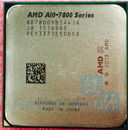 AMD A10 Series A10 7800 A10 7800 3 5GHz Quad Core CPU Processor AD7800YBI44JA AD780BYBI44JA Socket