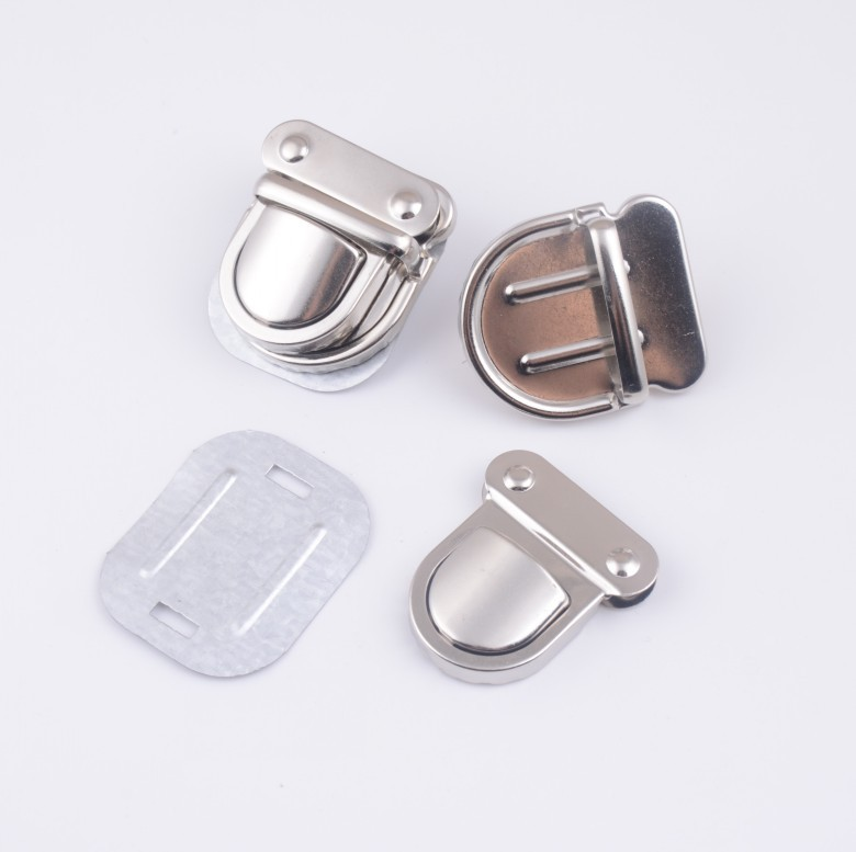 Arts,crafts & Sewing Free Shipping-10 Sets Silver Tone Trunk Lock Handbag Bag Accessories Purse Snap Clasps/ Closure Locks 32x32mm J1823