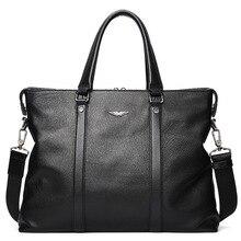 Genuine Leather Men Bags Fashion Messenger Bag Man Leather Laptop Briefcase Men's Travel Bag Crossbody Shoulder Large Handbag