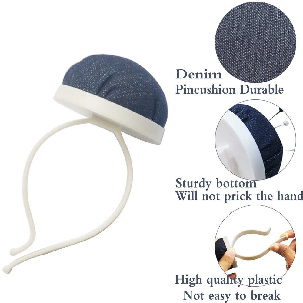 DIY Craft Sewing Pin Cushion Elastic Wrist Strap Button Storage Needle Holder