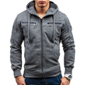 Winter Men's Hoodies of Brand Clothing Harajuku Hip Hop Sweatshirts for Male Outerwear zip Fashion Solid Men Hoody Streetwear