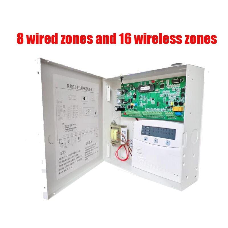 Livraison Gratuite 16 Zones avec et Sans Fil D'alarme Contrôle Volet de sécurité à domicile hôte D'alarme sans fil et filaire 850/900/1800/1900 MHZ