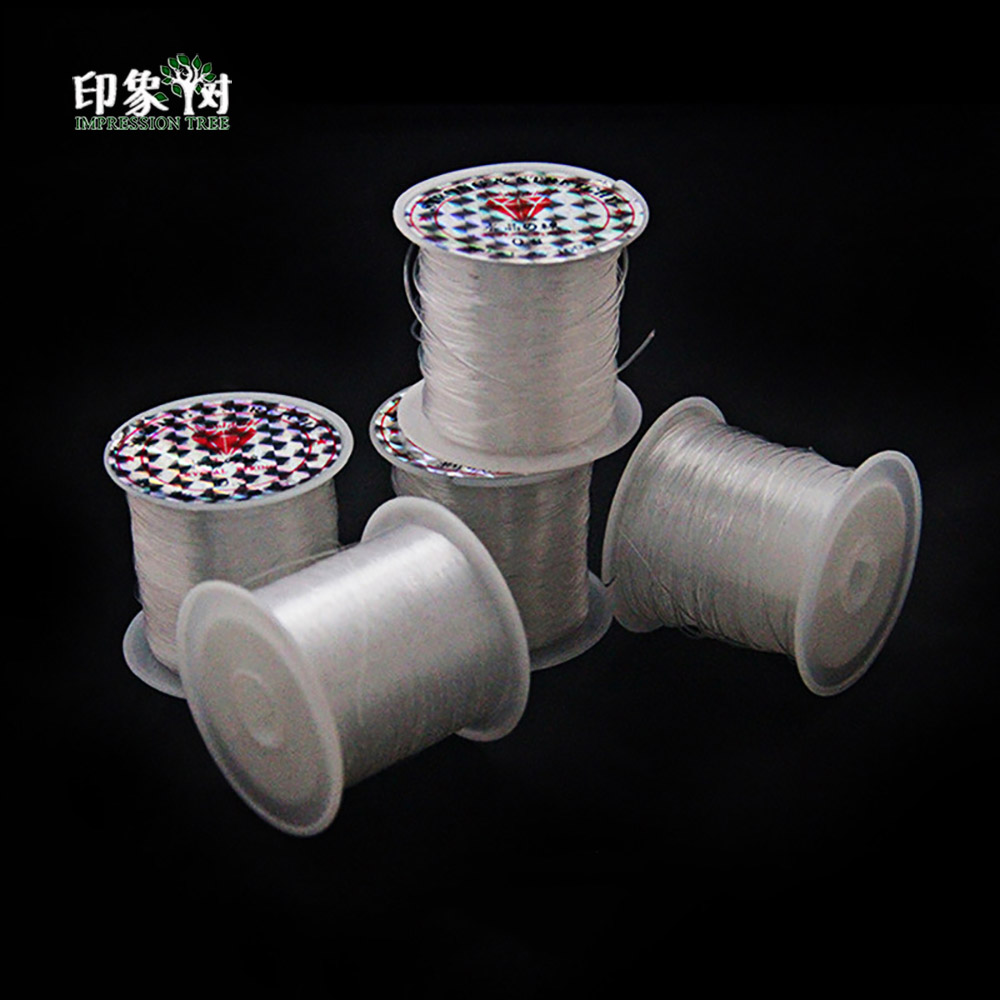 0.2/0.3/0.5/0.6/0.8mm Spool Packing Transparent Beading Thread Nylon Clear Cord Shoes Sewing Thread Cord DIY Jewelry Making 406