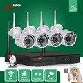 Anran wi-fi hdmi nvr 1 tb hdd 4ch p2p 1.0mp 720 p ao ar livre Rede IP Sem Fio Da Câmera à prova d' água IR CCTV Sistema De Segurança Home Video
