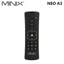 Оригинал MINIX NEO A3 Беспроводной Air Мышь с голосом Вход QWERTY клавиатура шесть оси гироскоп пульт дистанционного управления для MINIX медиахаб ТВ коробка