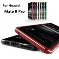 "Huawei mate 9 pro case luxo luxo ultra fina de alumínio no vidro traseiro para huawei mate 9 pro 5.5"""