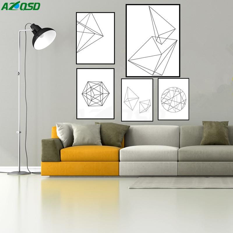 Azqsd art prints poster minimalist black white geometric for Minimalist home accessories