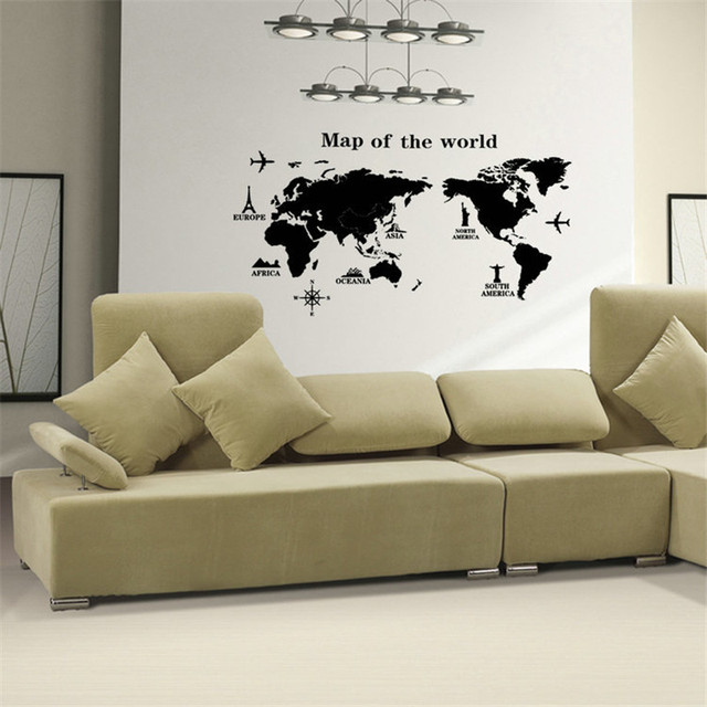 Removable pvc vinyl art room world map wall sticker decal mural removable pvc vinyl art room world map wall sticker decal mural home decor diy gumiabroncs Image collections