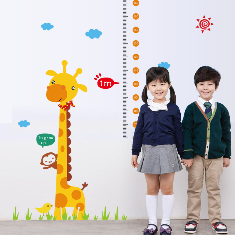 Buy giraffe children room decor wall for Growth chart for kids room
