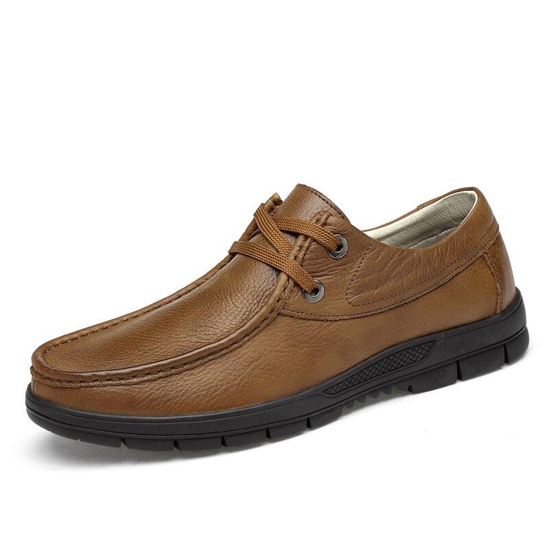 Loisirs Black Printemps Marche En Cuir Automne Clax Grande Chaussures Taille 2018 De Véritable Casual Hommes Derby brown khaki Homme KlFJcT1