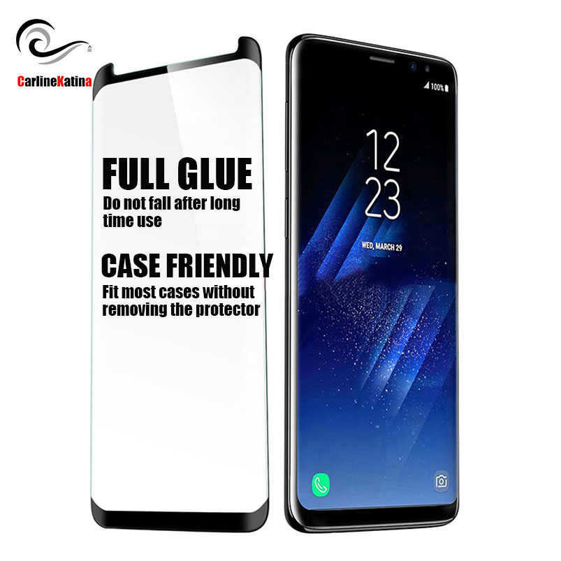 FULL GLUE Screen Protector Case Friendly Tempered Glass For Samsung galaxy S10 E Note 9 8 S6 S7 Edge S8 S9 Plus Film 3D 5D 6D