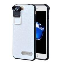 APEXEL 2017 Новый Мобильный Телефон Dual Объектив рыбий глаз широкий угол макро телескоп объектива камеры комплект с чехол Для iPhone 7 plus IP7P