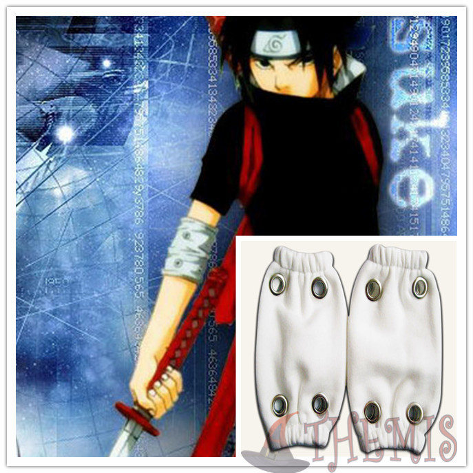 Athemis Uchiha Sasuke Arm Warmers Elbow Pad Striped Sleeves Narotu Ninja Cosplay Costume Cosplay Accessories