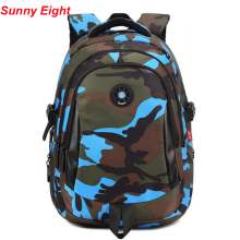 e6d59b60e090 Sunny Eight Fashion Children School Bag Rivets Camouflage Backpack Student  Backpacks For Primary Student Girls Boys