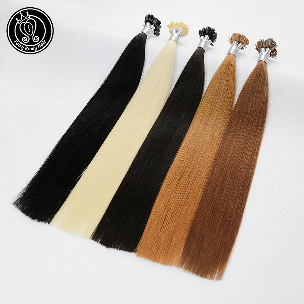 Fairy Remy Hair 0 8g s 18 quot Remy Flat Tip Keratin Human Hair Extension European Human Hair On The Capsule Fusion Hair 50s pac in Flat Tip from Hair Extensions amp Wigs