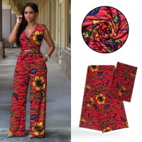 LIULANZHI african Chiffon red fabric 2yards with 4yards model fabric for clothing 6yards/set ML9LL88 93