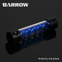 Barrow T Virus Helix Suspension Cylinder Water Tank 255mm Blue With Black Cap Water Cooling Reservoir