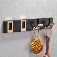 New Arrival Four Hooks Gold Hidden Clothes Rack Cloth Hook Wall Hook for Bathroom Accessory Key Hanger Useful