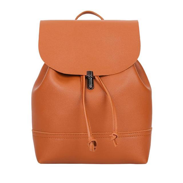 Mochila de moda para mujer 2020, bolso de escuela de cuero de Color puro Vintage, mochila, mochila, bolso de hombro para mujer, bolsa # YL5
