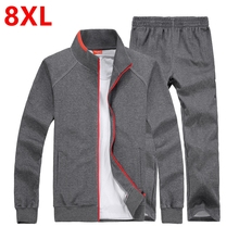 Frühling und herbst fett XL liebhaber plus größe baumwolle jacke hosen sportswear Pangge männliche gezeiten Jacke und hose
