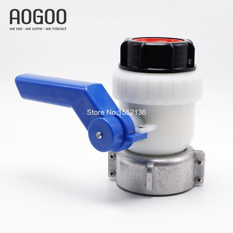 IBC Tank Garden Hose adapter 75mm DN50 FKM Butterfly Valve for little higher concentration of acid and alkali ibc water tank 62mm dn40 screwable ball valve square coarse thread