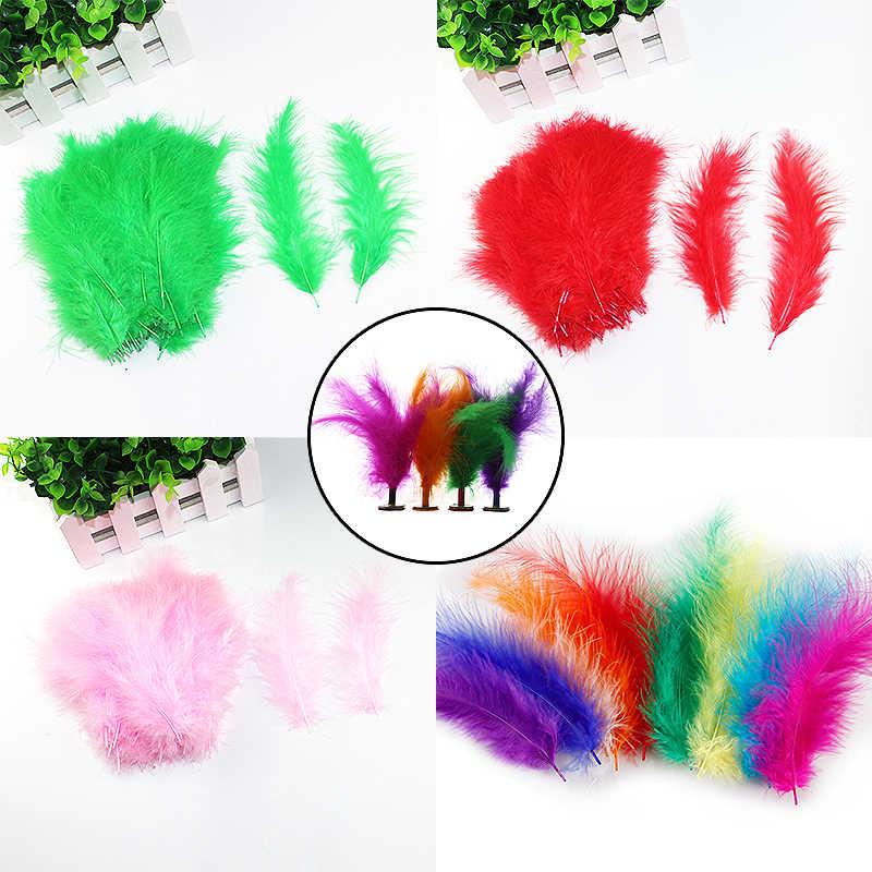 Venta de 10-15 cm 100 unids/pack de pollo de Turquía plumas de tela joyas accesorios decorativos para carnaval