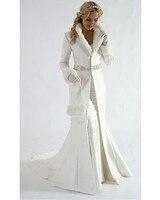 New arrivals winter coat v neck long sleeves Muslim bridal gowns winter cloak vestido de noiva 2018 mother of the bride dresses