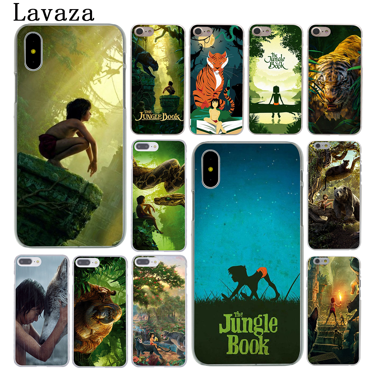 Lavaza The Jungle Book Hard Coque Shell Phone Case for Apple iPhone X 10 8 7 6 6s Plus 5 5S SE 5C 4 4S Cover