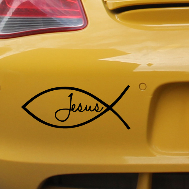 Jesus Fish God Religious Symbols Fish Image Car Stickers For