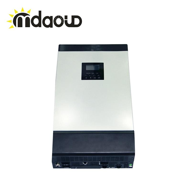 5kva SOLAIRE ONDULEUR/CONVERTISSEUR/MPPT 60a contrôleur de CHARGE SOLAIRE hors réseau hybride type dc48v à ac 220 v 230 v onde sinusoïdale pure