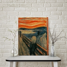 Munch Edward The Scream Artwork Abstract Figure Painting Print On Canvas Reproduction Picture For Bedroom Office Wall Decor Gift