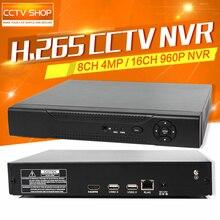 H.265/4MP H.264 8CH/4Ch 5MP/16Ch 960 P Видеонаблюдения NVR сеть Перекодировщик Для Ip-камера XMEye Макс 4 К Выход Поддержка HDMI ONVIF