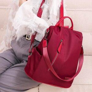 Image 2 - Donne Anti furto Zaino Impermeabile Grande In Tessuto Sacchetto di Spalla Femminile di Grande Capacità Semplice Stile casual Mochila Viaggio