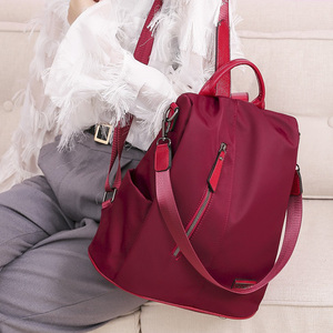 Image 2 - Kadın Anti theft sırt çantası su geçirmez kumaş büyük kadın omuz çantası büyük kapasiteli basit tarzı rahat Mochila seyahat