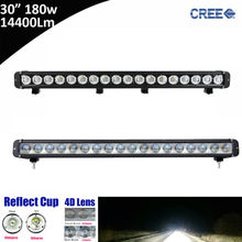 "1pcs 180W 30inch 30"" Super Bright Single Row Straight LED Light Bar for Offroad 4*4 SUV ATV Tractor 12V 24V Pickup UTV Truck(China)"