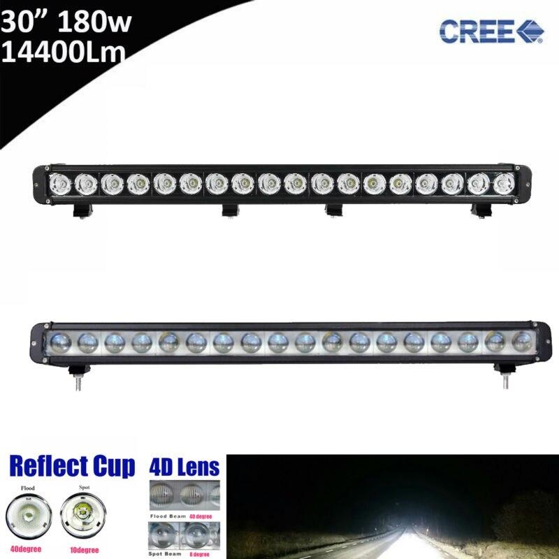 1pcs 180W 30inch 30 Super Bright Single Row Straight LED Light Bar for Offroad 4*4 SUV ATV Tractor 12V 24V Pickup UTV Truck